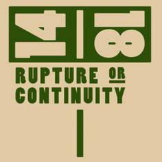 14-18. Rupture or Continuity?