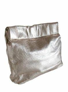 Picnic Metallic Leather Clutch
