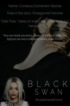 """You ever think you know someone,"" I started. ""And then find out you were completely wrong about them."" #tess #blackswan #idesofmarch"