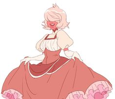Padparadscha (a Sapphire) from Steven Universe.