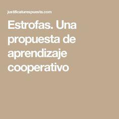 Estrofas. Una propuesta de aprendizaje cooperativo
