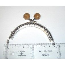 Fecho Metal  Prata /Castanho 8.5 cm