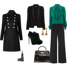 Polyvore Multicolor Outfits | fashion look from November 2011 featuring Gucci blouses, Mango coats ...