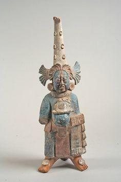 Costumed Figure, 7th–8th century. Maya. The Metropolitan Museum of Art, New York. The Michael C. Rockefeller Memorial Collection, Bequest of Nelson A. Rockefeller, 1979 (1979.206.953) #halloween #costume