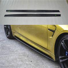 Carbon Fiber body kit Side Skirt Trim Spoiler for BMW 2015 2016 F80 M3, Bmw Parts, Carbon Fiber, Automobile, Vehicles, Motorcycles, Kit, Accessories, Style