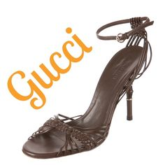 "% Authentic Brown Gucci Sandals Brown Gucci leather sandals with gold-tone hardware, bamboo accent at heels and buckle closure at ankle straps. Excellent condition! Retails $995.   Measurements: Heels 4"". Size US 6.5/IT 36.5  ❌Trades ❌PayPal  ✅OFFERS Welcome Gucci Shoes Heels"
