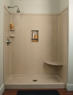 """Shower Wall Panels Faux Granite or Marble   Standard size shower base a 60"""" x 32"""" base .walls -1-72"""" x 60"""" 2-72"""" x ..."""