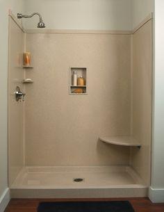 Wonderful Tub to shower remodel half walls tips,Corner shower remodel diy and Small shower remodel on a budget tips. Small Shower Remodel, Small Bathroom With Shower, Bathtub Remodel, Small Showers, Diy Bathroom Remodel, Shower Tub, Shower Stalls, Shower Base, Bathroom Makeovers