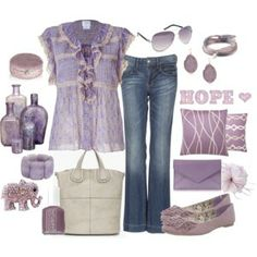 Surrounded by all things lavender