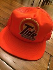 01151ebd152 TIDE RACING TEAM Vintage ORANGE MESH Snapback Trucker Hat Baseball Cap
