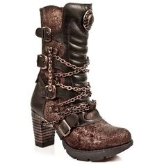 coppery boots