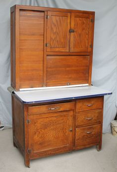 HOOSIER CABINET by McDougall, Frankfort, Indiana, Circa 1920 Solid ...