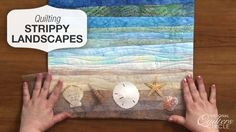Tips and inspiration for creating beautiful quilted landscape scenes with fabric strips http://www.nationalquilterscircle.com/video/strippy-landscapes/?utm_source=pinterest&utm_medium=organic&utm_campaign=A219 #learnmorequiltmore #LetsQuilt