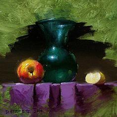 Apple & Green by David Cheifetz Oil ~ 6 x 6