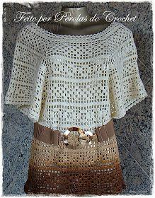 * Pérolas do Crochet: Blusa eem crochet tingida