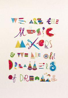 Makers, Dreamers - handmade embroidery by MaricorMaricar Studio, via Behance