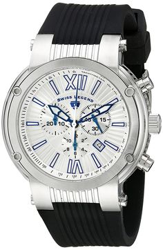 Swiss Legend Men's SL-10006-02-SB Legato Cirque Collection Chronograph Rubber Watch ** You can get additional details at the image link.