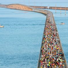 The 36th running of the Seven Mile Bridge Run is in the books! A field of 1500 crossed the longest of 42 bridges on the Florida Keys Overseas Highway today April 1 (no joke!) near Marathon. #flkeys #simplythekeys  Images: Andy Newman