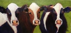 Cow+Trio+Cattle+Painting+Art,+painting+by+artist+Norma+Wilson