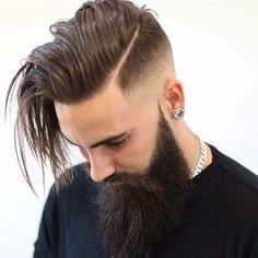 The Hard Part Haircut Mens Hairstyles + Haircuts 2017 Beard Styles For Men, Hair And Beard Styles, Short Hair Styles, Hairstyles Haircuts, Haircuts For Men, Cool Hairstyles, Haircut Men, Hairstyle Ideas, Fade Haircut With Beard