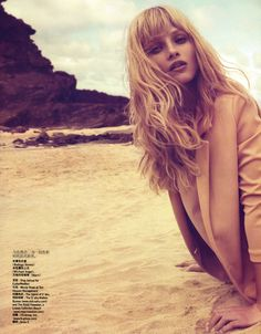 Anna Selezneva by Camilla Akrans for Vogue China July 2009 #fringe with layers
