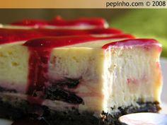 Tarta de queso, chocolate blanco y frambuesa