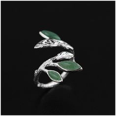 Find More Rings Information about Exclusive! 925 Sterling Silver Handmade Jewelry Very Unique And Elegant Leaves Design Rings For Women Natural Stone Gift,High Quality jewelry wolf,China ring jewelry box Suppliers, Cheap ring husband from Lotus-Silver Jewelry Handmade Studio on Aliexpress.com