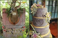 Wood Rustic Looking Wedding Cakes | ... Wedding Theme ~ Brenda's Inspiration Board | Afloral.com Wedding