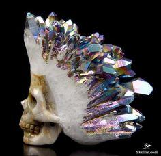 Quartz Druse Crystal Skull