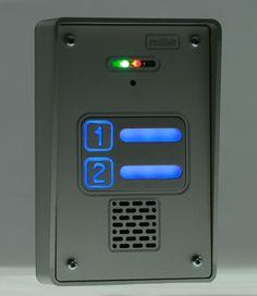#domofon dwurodzinny radbit mini - montaż natynkowy, anodowane aluminium, podświetlane przyciski