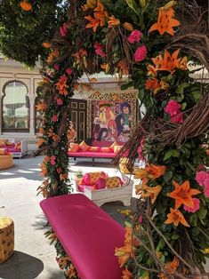 Tune in to These 5 Stunning Mehndi Decoration Ideas That Inspire the Best Setups for Your Mehndi Ceremony Desi Wedding Decor, Indian Wedding Decorations, Our Wedding, Mehndi Decor, Mehendi, Mehndi Ceremony, Telugu Wedding, Perfect Day, Wedding Sutra