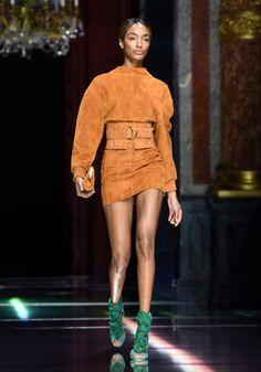 Jourdan Dunn in the Balmain spring '16 runway show.