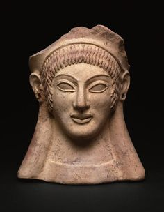 Étrusque, peut-être de Véies, votive Head, 500 BC Adler Memorial par Alejandra