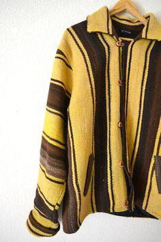 l Bolivian Chimayo Yellow and Brown Jacket