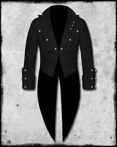Living dead souls mens black goth steampunk swallow tail coat tailcoat jacket