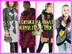 8 DESIGUAL COATS SUPER HALF PRICE SALE