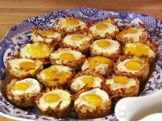 Baked Eggs in Hash Brown Cups from FoodNetwork.com I used the refrigerated hash browns from the grocery store and were just as good with less prep time. Yum!