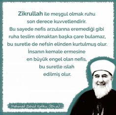 Zikrullah ile meşgul olmak ruhu son derece kuvvetlendirir! #MehmedZahidKotku