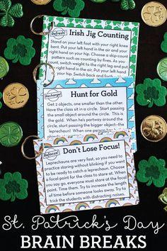 12 FREE St. Patrick's Day Themed Brain Breaks