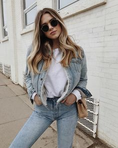 fa7f2808301 158 Best Denim Street Style Outfit Inspiration images in 2019 ...