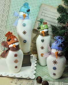 PDF Sprinkles & Snowflake Snowman Felt door RaggyDollsSupplies