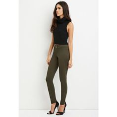 cfa40e243714 Forever 21 Women s Flat-Front Skinny Pants ( 15) ❤ liked on Polyvore  featuring