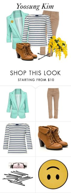 """""""Yoosung Kim Inspired Outfit"""" by raven-writer on Polyvore featuring Band of Outsiders, Ralph Lauren, L. Erickson and PINTRILL"""