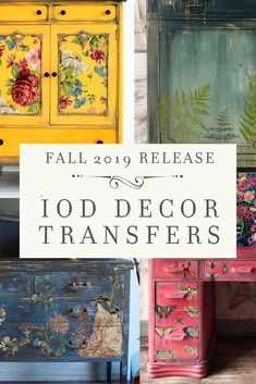 See the latest in furniture makeover ideas with Iron Orchid Designs 2019 Decor Transfer release. Click through to see all 8 new IOD transfers as well as get ideas and inspiration for your next desk or dresser makeover project. Cute Furniture, Decoupage Furniture, Design Furniture, Repurposed Furniture, Paint Furniture, Furniture Makeover, Furniture Ideas, Dresser Makeovers, Luxury Furniture