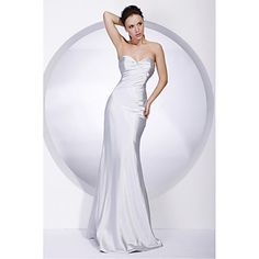 Stretch Satin Sheath/Column Sweetheart Floor-length Evening Dress – EUR € 75.29