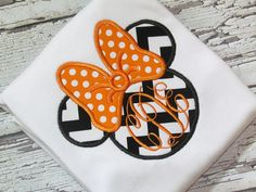 Girls Personalized Halloween Chevron Minnie Mouse Disney Vacation Applique Shirt  FREE MONOGRAM on Etsy, $21.00