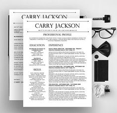 carry jackson resume word template - Fancy Resume Templates