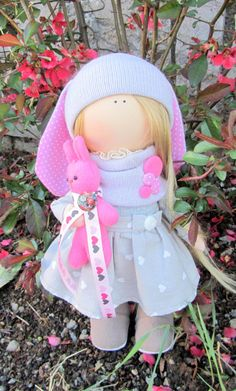 Cloth doll handmade doll fabric doll Little от NICEDOLLSANDRABBITS