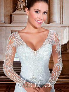 laço branco abrir volta appliqued vestidos de noiva de cauda longa com manga comprida-imagem-Vestido e saias plus size-ID do produto:900005581363-portuguese.alibaba.com