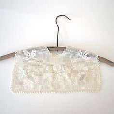 Vintage Filet Crochet Yoke Collar | Rosa Meyer Collection